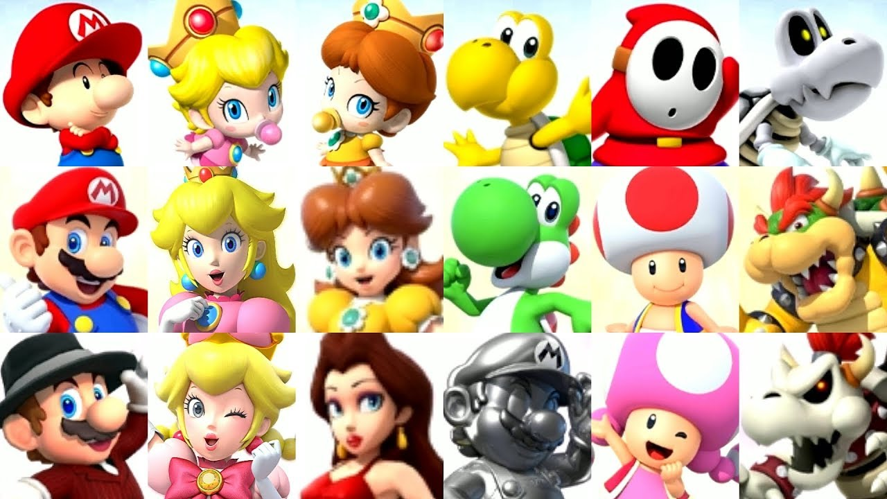 What are the Mario Character Names?